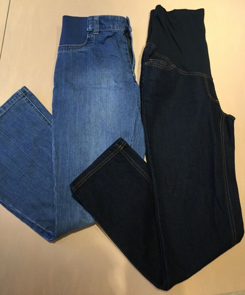 2x maternity jeans Mamas & Papas and Jojo Maman Bebe both size 8