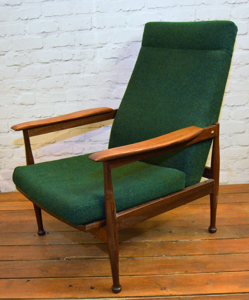Guy Rogers manhattan mid century vintage lounge chair retro antique  industrial armchair reclining - Guy Rogers Manhattan Mid Century Vintage Lounge Chair Retro