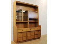 Large vintage teak Nathan furniture unit/display cabinet