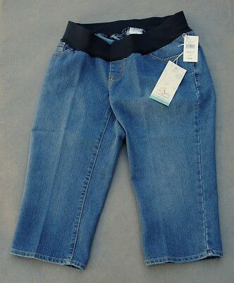 Oh Baby by Motherhood Maternity Capri Jeans Underbelly Denim Size Medium NWT ()