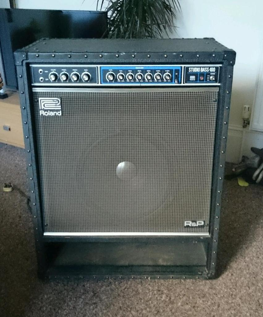 roland bass studio 100 vintage amp in plymouth devon gumtree. Black Bedroom Furniture Sets. Home Design Ideas