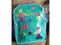 Ben & Holly childs back pack - new