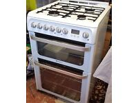 HOTPOINT DUAL FUEL ELECTRIC GAS 60CM COOKER DOUBLE OVEN TWIN GRILL DELIVERY