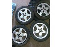 Wheels Alu 14 inc with tyres 4.5j x 14