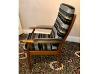 Fireside Easy Chair Cintique Brand High Back High Seat