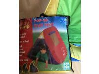 2 pop up kids play tent 1 x red and 1 x yellow