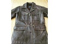 Men's Retro Style Leather Jacket from GAP - Brand New!!