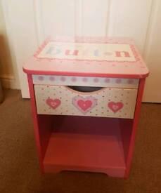 Children's Bed Side Table & Unit