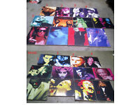 Job Lot Pop-Art Style Music/Film Icon 432 Pieces of Hanging Wall Art. Bulk Buy