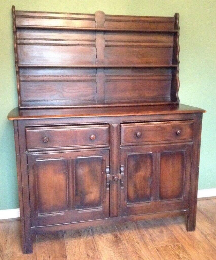 Vintage 1950s Ercol Welsh Dresser