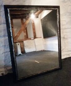 Beautiful Black & Gold Framed Large Wall Mirror