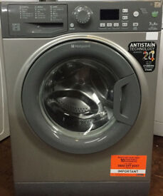 Hotpoint WMFG741 7kg 1400Spin Silver LCD A+ Rated Washing Machine 1 YEAR GUARANTEE FREE FITTING