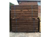 🐛 90 x 190 x2.4m Brown Wooden Railway Sleepers > New