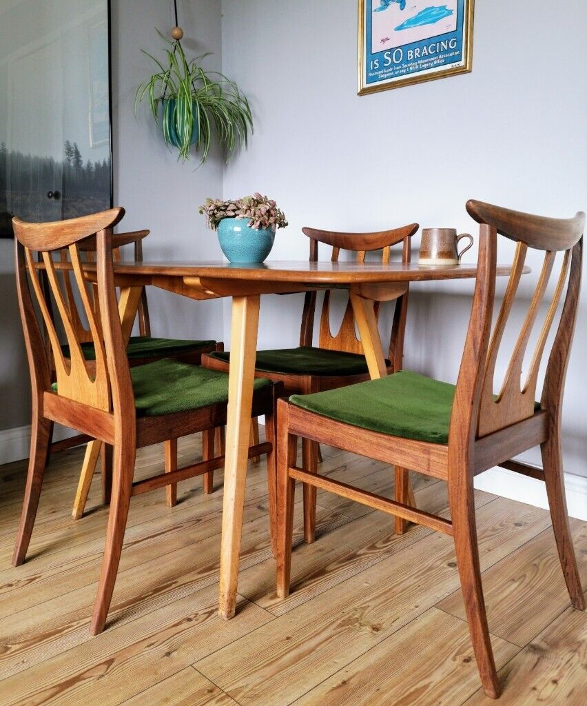 Outstanding Rare Set Of 4 Vintage G Plan Brasilia Teak Dining Chairs Midcentury In Attleborough Norfolk Gumtree Squirreltailoven Fun Painted Chair Ideas Images Squirreltailovenorg