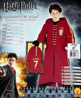 HARRY POTTER Quiddich Boys Kids S 3 to 4 Years Old ROBE with HOOD COSTUME New](4 Year Old Boy Costumes)