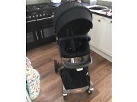 Black Stokke Xplory stroller