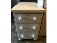 Victorian chest of 3 deep drawers Bedroom/ Hall/ Lounge/ Utility etc
