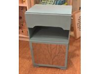 Small painted cupboard with drawer