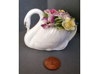 royal doulton swan floral china