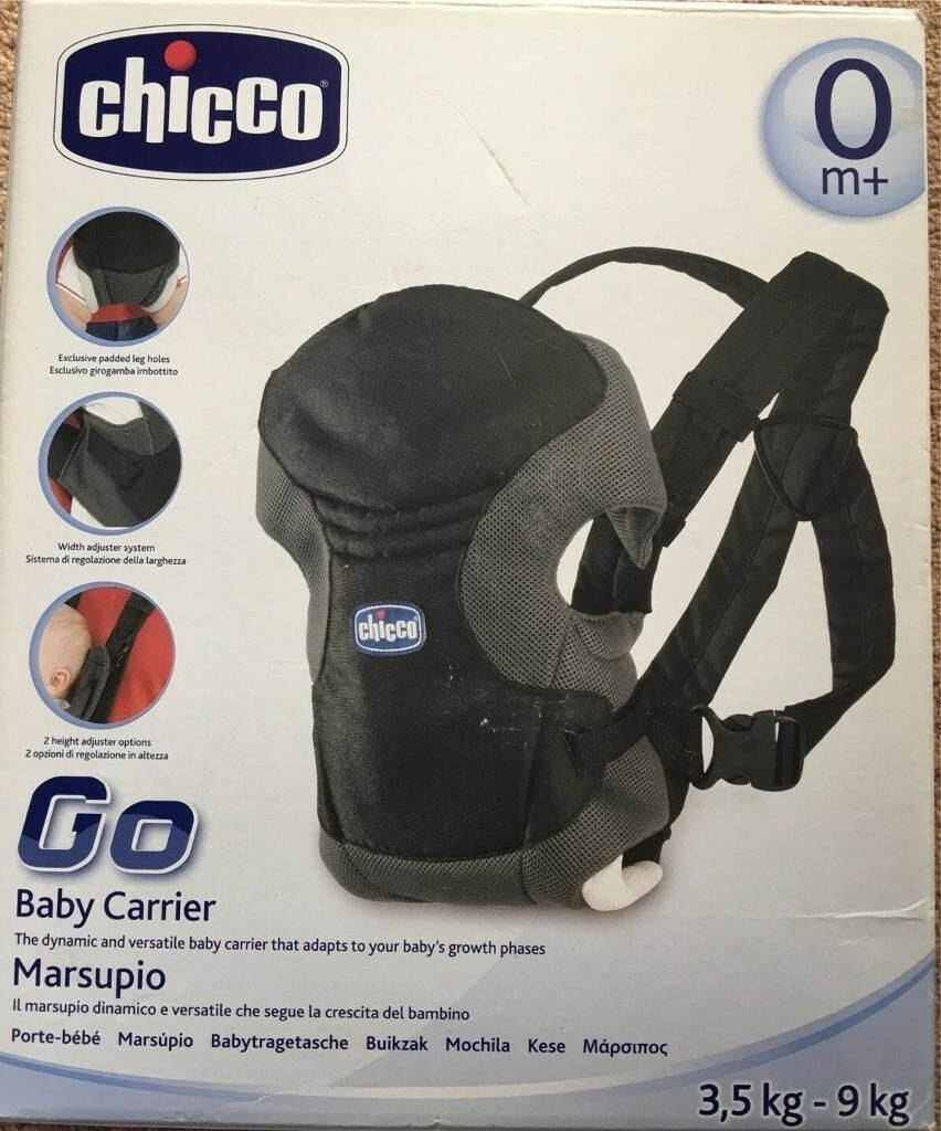 Chicco Baby Carrier Marsupio Go With Box And Instructions Good