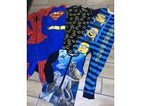 Boys onesie dress up suits age 8-10 superman batman Spider-Man dinosaur minions