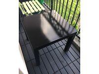 Ikea Table, black, square, lightweight + free 2x black tea cups