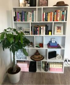 WHITE BOOKCASE - quick sale wanted