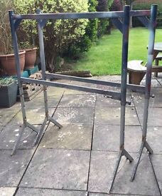 x2 / 1 Pair Clarke Strong Arm CSL1410 Height Adjustable Trestles Staging Scaffold Tower