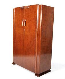 Vintage Wardrobe Oak Art Deco