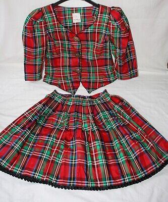 Kostüm, 2-teilig, Größe ca. 38/40, (Rot Karierte Kleid Kostüm)