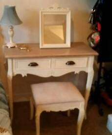 French dresser and matching stool