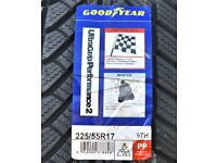 Goodyear UltraGrip 2 Performance - 225/55 R17 97H (*) TL Winter Tyre Set of 4