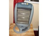 PORTABLE ELECTRIC HEATER ON STAND, TURNS OR STATIC, LOW RUNNING COST