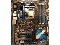 Asus P7P55D-E ATX + Intel i5-760 Quad Core 2.8ghz processor - LGA1156 chipset, USB 3.0 & Sata 6