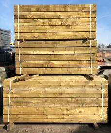 🍁 Tantalised 190 x 90 x 2.4M Wooden Railway Sleepers