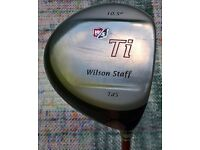 Wilson Staff Td5 Titanium driver complete with head cover