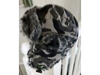 CHILD'S FUR TRIMMED DEER STALKER HAT -6/10 yrs