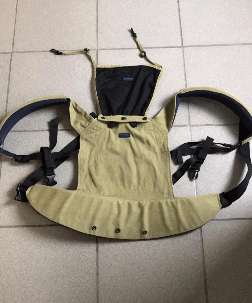 Patapum baby carrierin Haverfordwest, PembrokeshireGumtree - Patapum baby carrier in khaki/navy with detachable hood. Smoke free home, excellent condition. Suitable up to 14kg/30lb/18m. Collect hwest