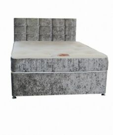 Crushed velvet beds from £180