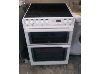 6 MONTHS WARRANTY Hotpoint Creda 60cm, double oven electric cooker FREE DELIVERY