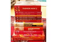 COLLECTION ONLY - Big lot of 15 art and fashion coffee table design books, offers accepted