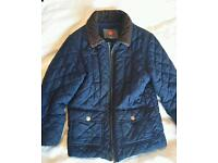 John Lewis Boys' Diamond Quilted Jacket, Navy- Very good condition- Age 6