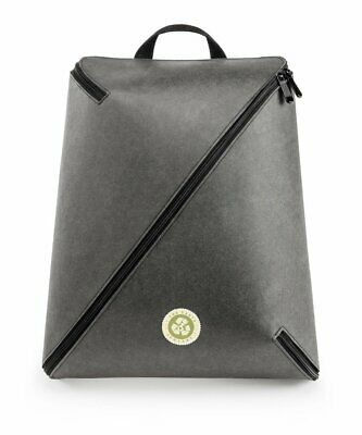 The Earth Company Natural Paper Gray Backpack Eco Friendly NIB For Charity..