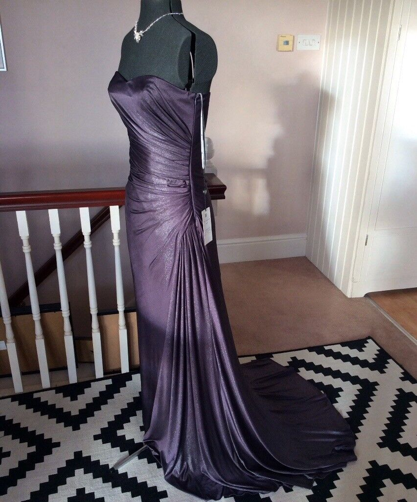detailed images cheap offer discounts Long Maxi Purple Sparkly Evening Party Ball Prom Bridesmaid Dress 10 12  Ghost London Style | in Clevedon, Somerset | Gumtree