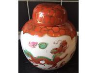 Japanese China Ginger Jar