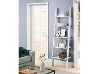 White ladder bookcase / bookshelf / shelves