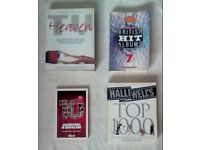 4 Film TV and Music Books HEAVY JOB LOT Hollywood GUINNESS RECORDS