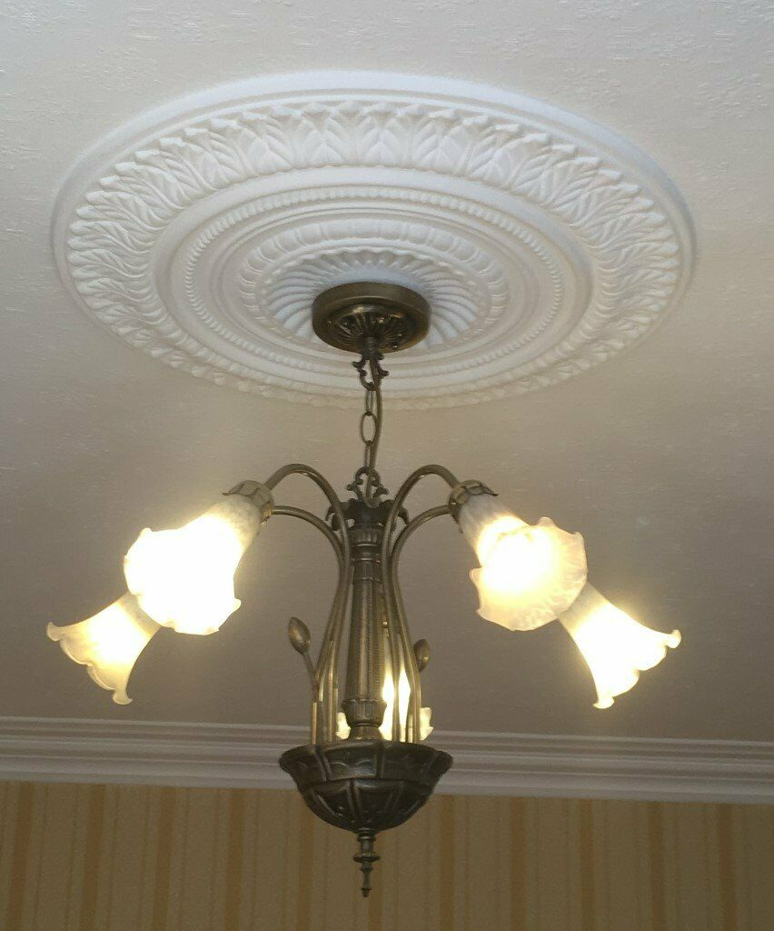 5 Branch Ceiling Pendant Light With Two Matching Wall Lights In Cardiff Gumtree