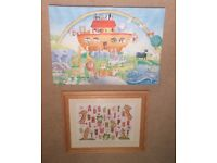 ABC Picture and Noah's Ark Canvas