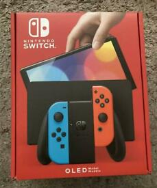 Nintendo switch OLED red and blue
